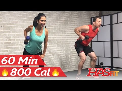 60 Minute Total Body Strength Workout with Weights - Weight Strength Training for Women Men at Home