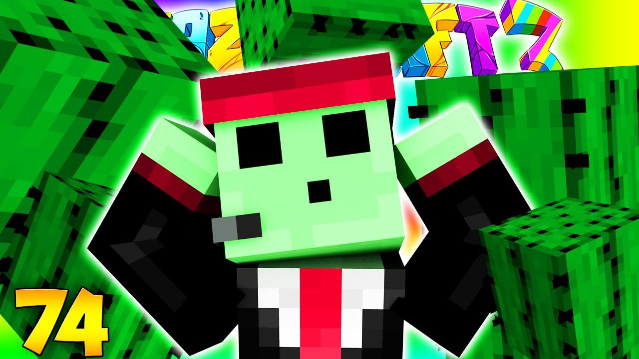Minecraft Crazy Craft 30 Cactus Pranking Petezahhutt 74 Youtube