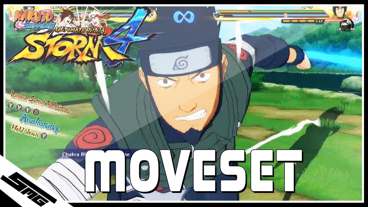 Naruto Ultimate Ninja Storm 4 - Asuma COMPLETE Moveset by SomeMoeGaming