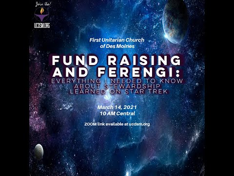 27 UCDSM Service March 14 2021 Fund Raising and Ferengi