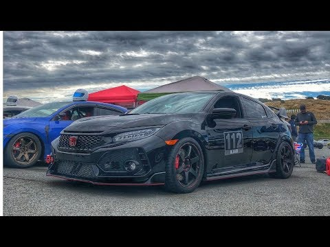 Near disaster in the Civic Type R at Laguna Seca