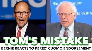 Bernie: It Was 'A Mistake' For Tom Perez To Endorse Cuomo