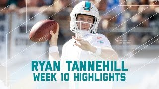 Ryan Tannehill Leads Dolphins to Victory   Dolphins vs. Chargers   NFL Week 10 Player Highlights