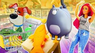 Кошка Хлоя и Макс в магазине Барби - игрушки Тайная жизнь домашних животных. Видео для детей