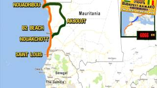 2014 Planned Route Of The Budapest-Bamako