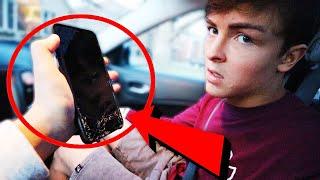 I Ran Over My Boyfriend's Phone, Twice (HIS REACTION)
