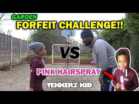 Forfeit Garden Challenge!! | LOSER GETS PINK HAIR!! | Tekkerz Kid