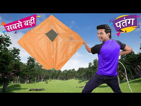सबसे बड़ी पतंग World's Biggest Kite | Hindi Comedy | Pakau TV Channel