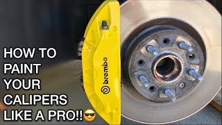 How To Paint Your Brake Calipers!!! (2017 Camaro SS)