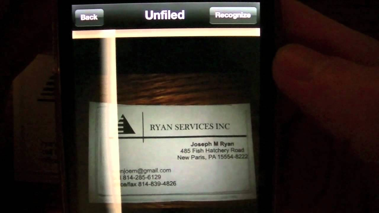 Best Business Card Scanning App for iDevices — WorldCard Mobile ...