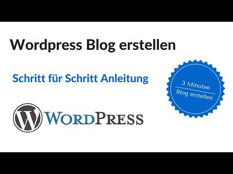 WordPress Blog erstellen Schritt für Schritt Anleitung