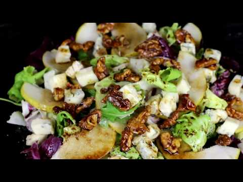 Новогодний салат.Салат с сыром и грушей