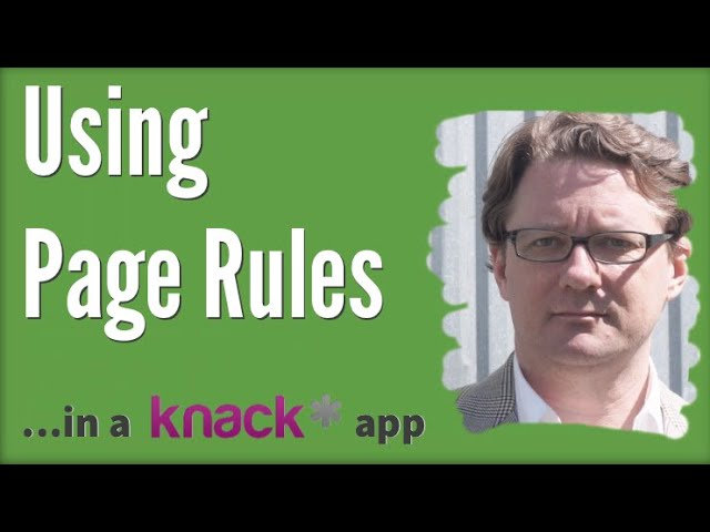 Using Page Rules in a Knack Database App