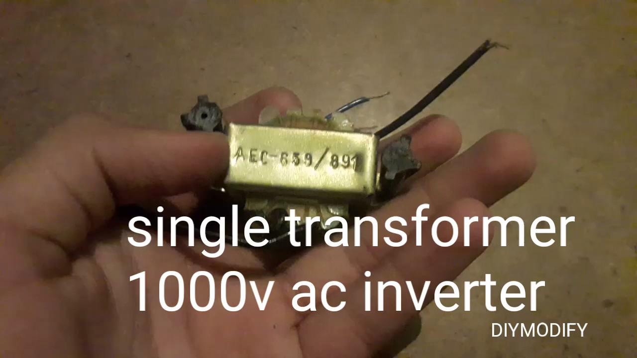 super simple inverter one switch 12v to 1000vac youtube rh youtube com Dimensions Super Inverter Dimensions 2000 Watt Inverter