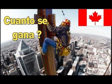 Salarios en Canada del mas alto al mas bajo, cuanto pagan y de que
