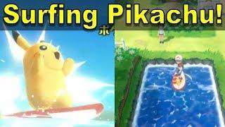Surfing Pikachu in Pokemon Lets Go! [Pokenchi Analysis] | @GatorEXP