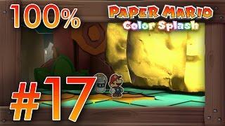 Paper Mario Color Splash 100% Walkthrough Part 17 | Roshambo Temple #2 & Mondo Woods [100%]