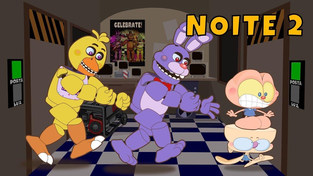 Mongo e Drongo em Five Nights at Freddy's - Noite 2  - FNAF 1 - desenho animado
