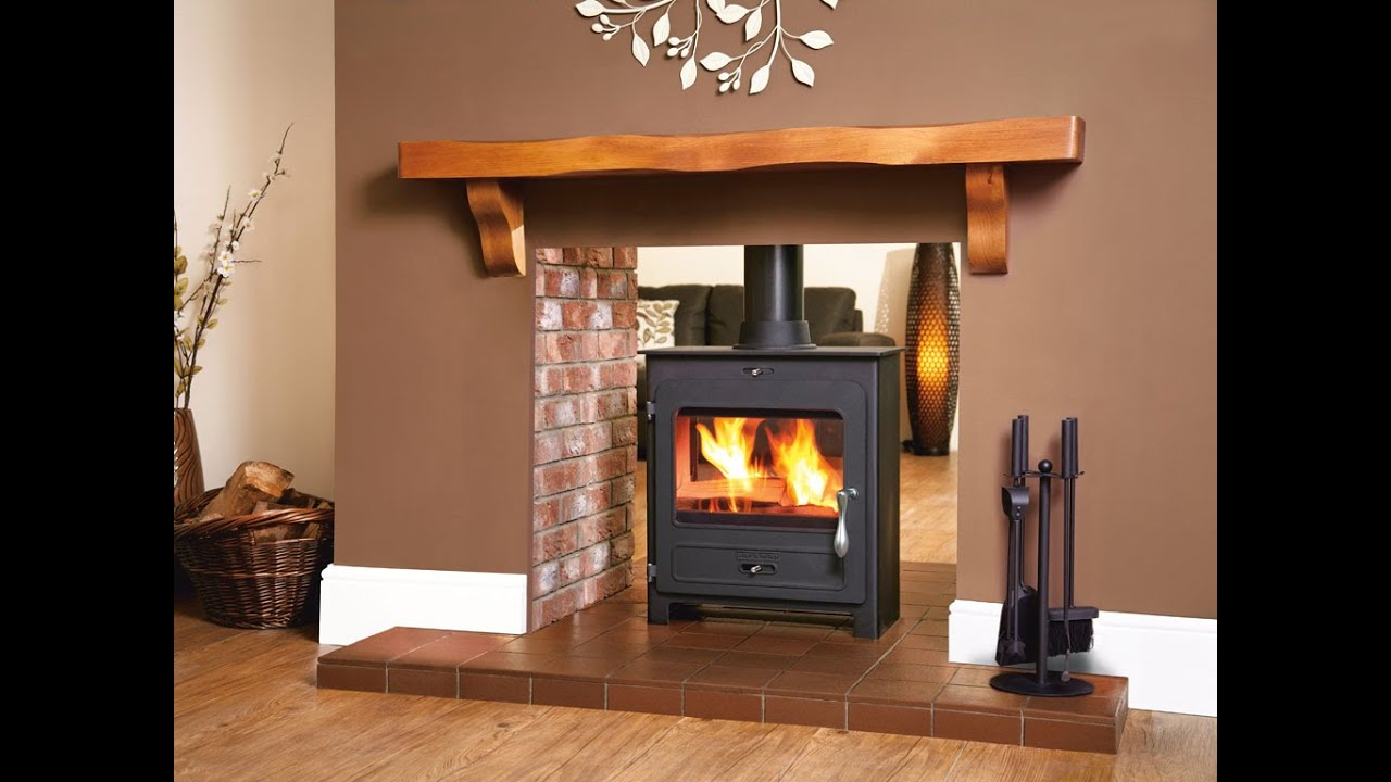 Portway double sided stove youtube for Open sided fireplace