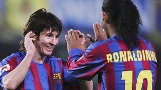 Дебютный гол Лео Месси за Барселону