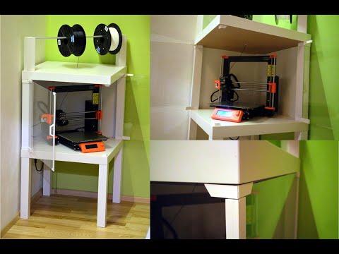 Prusa i3 MK3S Corner ENCLOSURE  - Ikea LACK table
