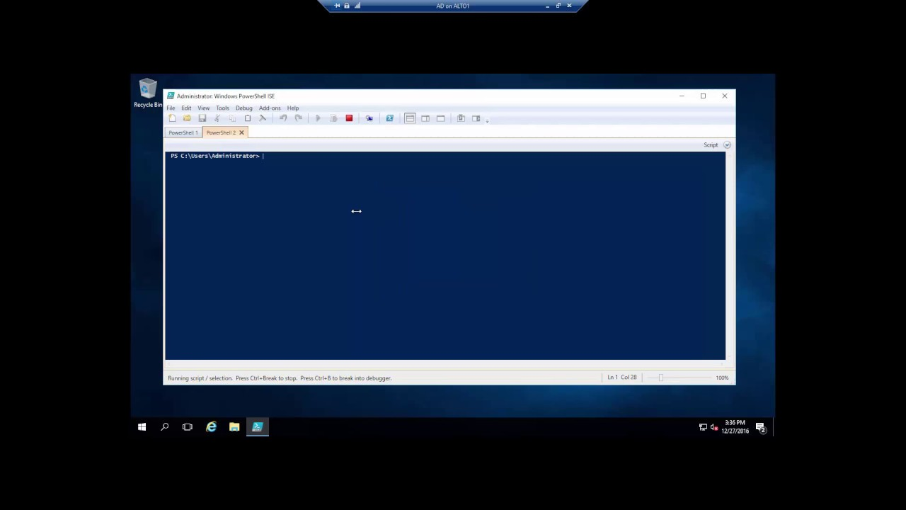 Connecting with Powershell ISE to remote computer