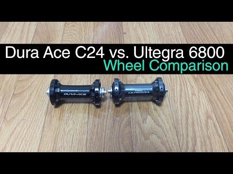 Dura Ace C24 vs. Ultegra 6800. Wheel Comparison