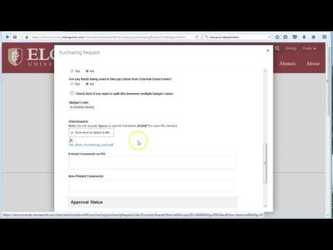 Approving Purchase Requests   Elon University