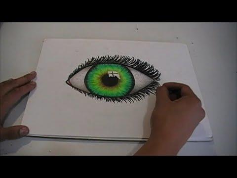 Como Dibujar Un Ojo Realista Utilizando Colores De Madera