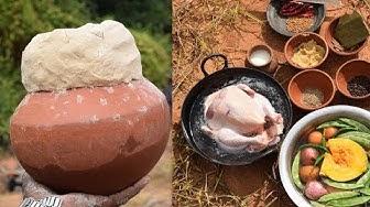 Cooking Full Chicken in Pot   Pot Chicken   Matka Chicken