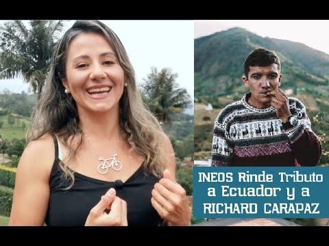 INEOS RINDE TRIBUTO A ECUADOR Y A RICHARD CARAPAZ #RichardCarapaz #TeamIneos #EnlaRuta #TourdeFrance