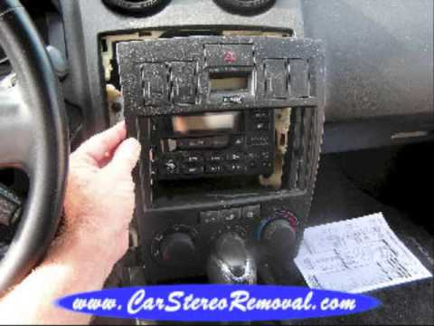 Hyundai Tiburon Stereo Removal