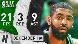 Kyrie Irving Full Highlights Celtics vs Timberwolves 2018.12.01 - 21 Pts, 9 Ast, 3 Rebounds!