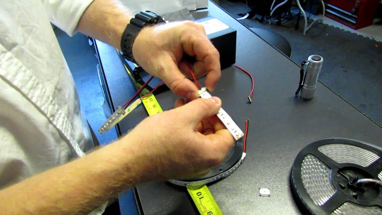 How to install led strip lights to connectors and a power supply how to install led strip lights to connectors and a power supply flexfire leds youtube asfbconference2016 Choice Image