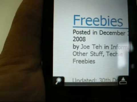 HTC Touch 3G Opera Browser Demo