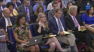 Sarah Sanders Press Briefing on Anthony Scaramucci resigning/FIRED by Trump & John Kelly