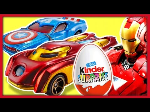 Киндер Сюрприз. Машины супергероев ХОТ ВИЛС. Hot Wheels Marvel. Kinder Surprise.