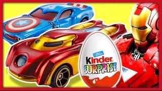 Киндер Сюрприз. Машины супергероев ХОТ ВИЛС. Hot Wheels Marvel. Kinder Surprise.
