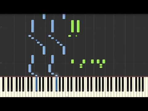 La soupe aux choux - Theme - Piano tutorial (Synthesia)
