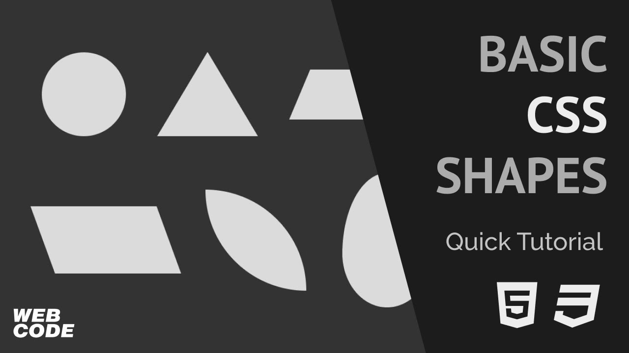 Basic CSS Shapes (Quick Tutorial)