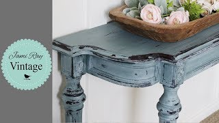 Chippy Milk Paint | When To Wet Distress and Wax