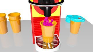 Learn Colors Coffee Box Machine Kitchen Balls for Kids #z - Colors for Children Toddlers Babies