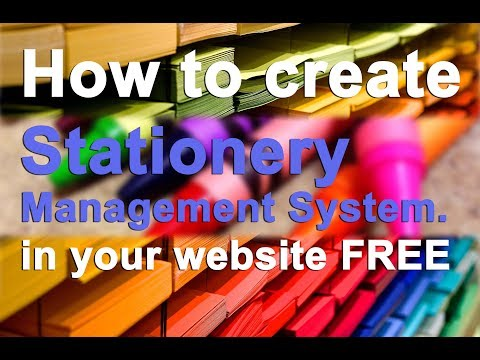Stationery Management System | Web App | Google G Suite | Google Sites