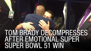 exclusive tom brady decompresses after emotional super bowl 51 win