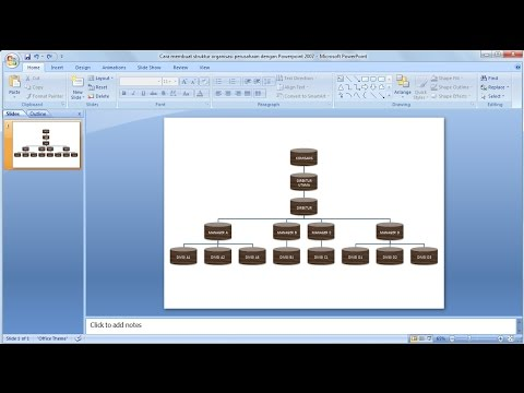 Tutorial Powerpoint 2007 Cara Membuat Struktur