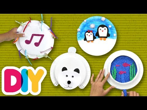 4 EASY Paper Plate CRAFTS you can do in the winter ❄️ Fast-n-Easy | DIY Arts & Crafts for Parents