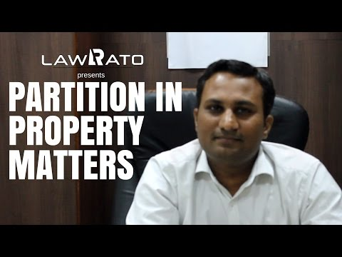 Partition in property matters in India