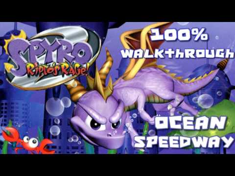 Spyro 2 - Ripto's Rage! 100% Walkthrough - 8 - Ocean Speedway