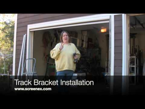 Screenex Retractable Pull Down Garage Door Screen