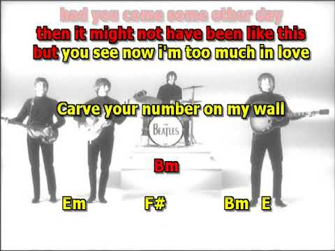 If I needed someone Beatles no intro best karaoke instrumental lyrics chords